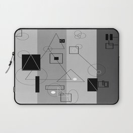 Gray Geometry 3 Laptop Sleeve