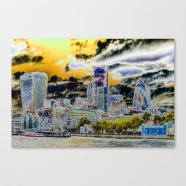 Solarised London Canvas Print