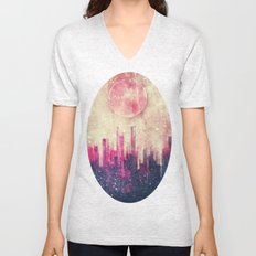 Mysterious city Unisex V-Neck