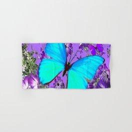 BLUE BUTTERFLY PURPLE DREAMSCAPE DECORATIVE ART Hand & Bath Towel