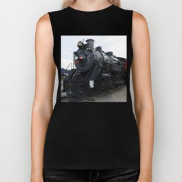 Vintage Railroad Steam Train Biker Tank