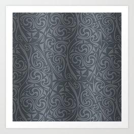 Celtic Warlord steel Art Print