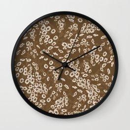 Daisy Dream Sepia Wall Clock