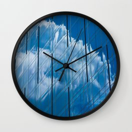 Cloud on the window Wall Clock