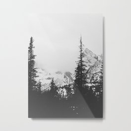 Forest under the Mountain Metal Print