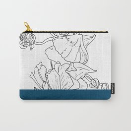 VESSEL - Floral Ink in Peacock - Cooper and Colleen Carry-All Pouch