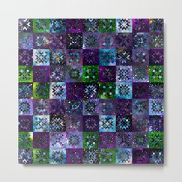 Cool Colors Galaxy Quilt Pattern Metal Print