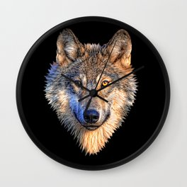 Midnight Wolf Wall Clock