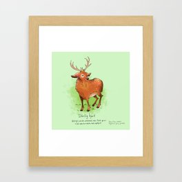 Triste dyr: Dårlig hjort Framed Art Print