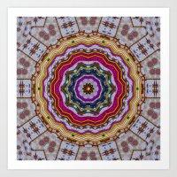 woodstock Art Prints featuring Woodstock Pattern kinda by Pepita Selles