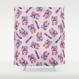Maneki Neko Cotton Shower Curtain