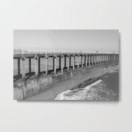 Whitby Pier Metal Print