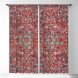 Fine Persia Bijar Old Century Authentic Colorful Red Blue Yellow Vintage Patterns Blackout Curtain