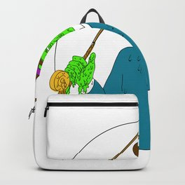 Mobster Fisherman Fly Rod Reel Grime Art Backpack