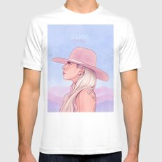 Joanne Mens Fitted Tee White MEDIUM