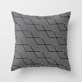 Minimalistic modern stylish repeating geometric tile. Throw Pillow