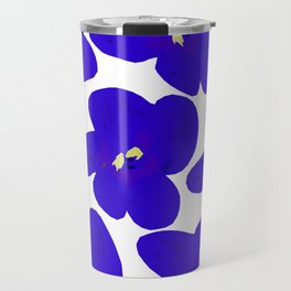 Blue Retro Flowers #decor #society6 #buyart Travel Mug