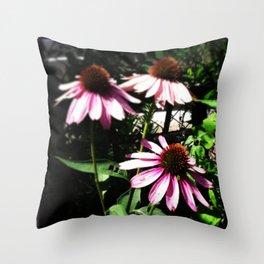 Coneflowers Throw Pillow