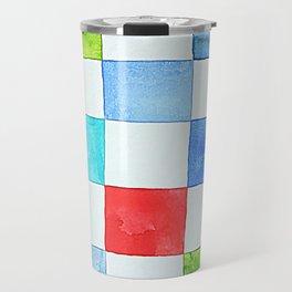 Minnow's Patchwork - Watercolor Squares Travel Mug