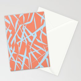 Salmon with Blue Cutouts Stationery Cards