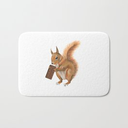 Super squirrel. Bath Mat
