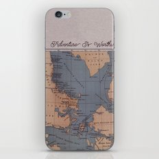 Adventure Is Worthwhile iPhone Skin