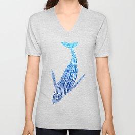Whale song Unisex V-Neck