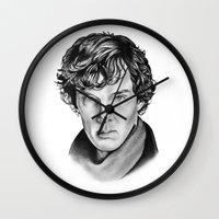 sherlock Wall Clocks featuring Sherlock by 13 Styx
