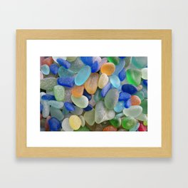Sea Glass Bliss Framed Art Print