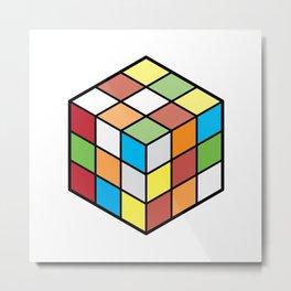 Rubix Cube Metal Print