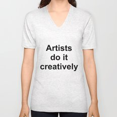 Artists Do It Creatively Unisex V-Neck