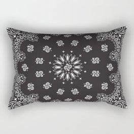Paisley - Bandana - Black - Southwestern Art Rectangular Pillow