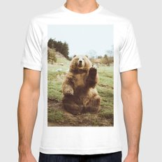 Hi Bear Mens Fitted Tee LARGE White