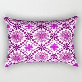Magenta pink white abstract geometrical floral Rectangular Pillow