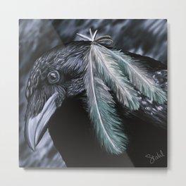 Raven Painting Metal Print