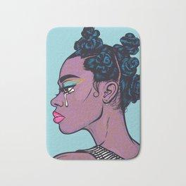 Black Crying Comic Girl Bath Mat