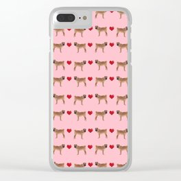 Sharpei love hearts dog breed gifts pet friendly sharpei dogs Clear iPhone Case