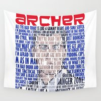 archer Wall Tapestries featuring Best of Archer Quotes by Mental Activity