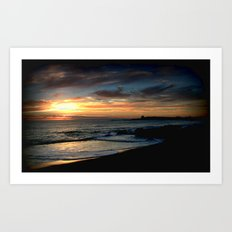 Sunrise over Bass Strait - Tasmania Art Print
