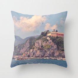 Cliffside Italian Villages Throw Pillow