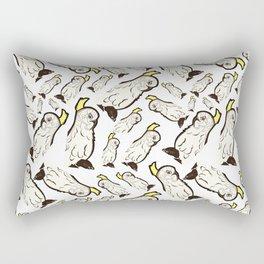 Australian Native Bird Pattern - Cockatoo Rectangular Pillow
