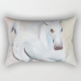 white horses Rectangular Pillow