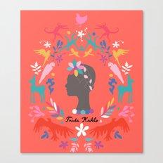 Frida Cameo in Tamale Canvas Print