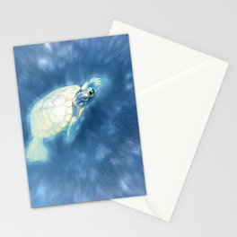 Psychedelic Space Turtle Stationery Cards
