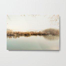 Autumn Lake Scene Metal Print