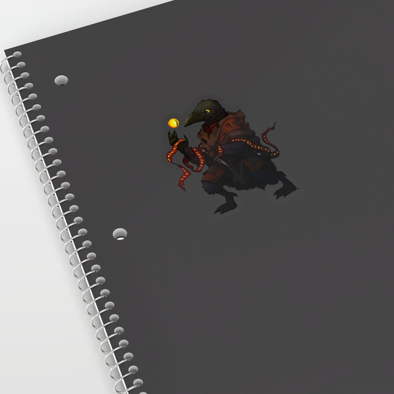 Kenku Warlock - Character art Sticker by rookzer0