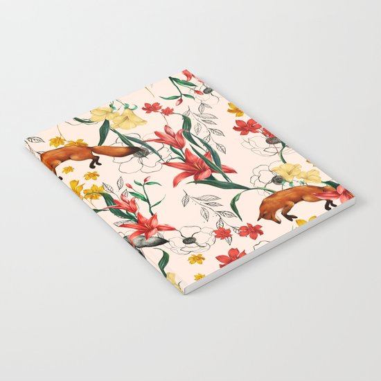 Floral Fox Notebook