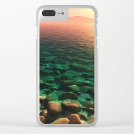 Sun Worship Clear iPhone Case