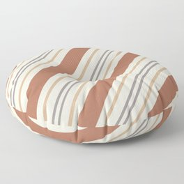 Cavern Clay SW 7701 and Accent Colors Thick and Thin Angled Lines Triple Stripes 1 Floor Pillow