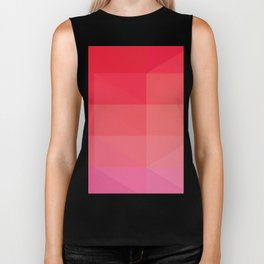 RED Abstract Art Biker Tank